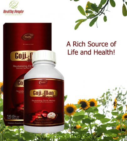 "GOJI-MAN 1/2 Liter - ""A Rich Source of Life and Health"""